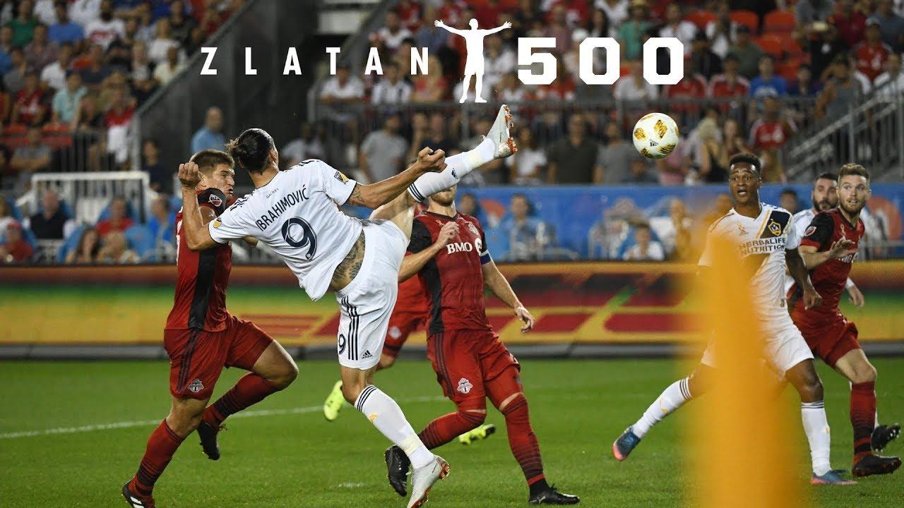 Goal Zlatan Ibrahimovic Scores His 500th Career Goal In Stunning Fashion Youtube
