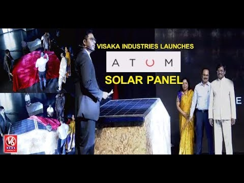 Visaka Industries Launches It's New Product 'Atum' Solar Panel | V6 News