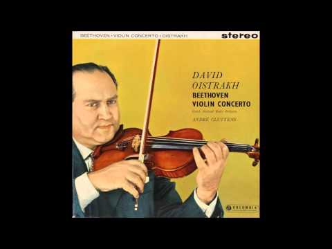 Beethoven, Violin Concerto 1st mov , David Oistrakh