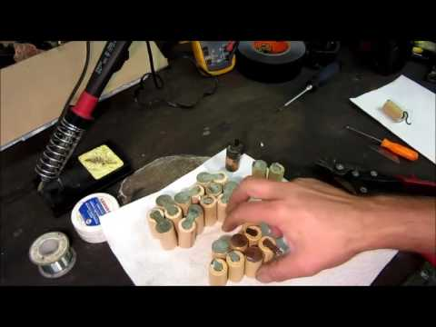 DeWalt Ni-Cd rechargeable battery pack rebuild with new cells....