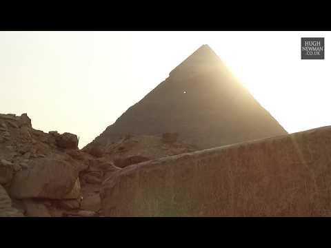 Strange Light Orb at The Giza Pyramids - October 17th 2017 - YouTube