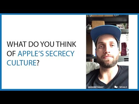 What Do You Think of Apple's Secrecy Culture?