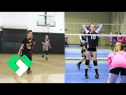 🏀🏐 Action Packed Day of Club Sports! 🏐🏀 | Clintus.tv
