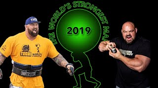The Final 2019 World's Strongest Man with Brian Shaw, Haftor Bjornsson and Martins Licis