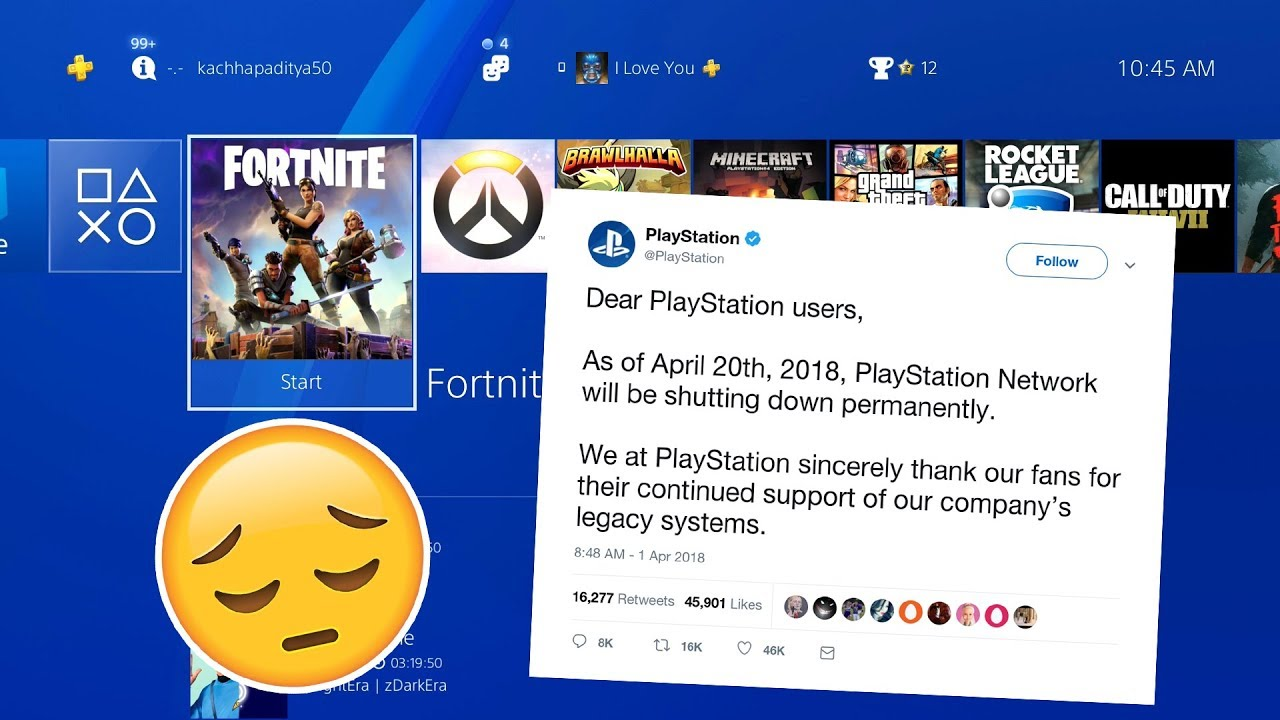 PSN Servers are Shutting Down    For Good
