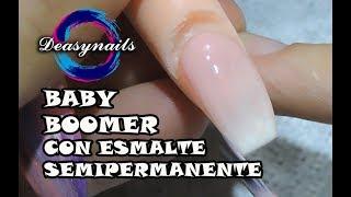 Como hacer uñas baby boomer con esmalte permanente - french ombré tutorial uñas con gel