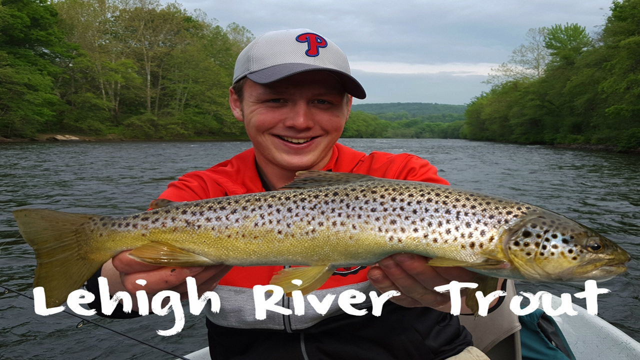 Trout fishing the lehigh river youtube for Youtube trout fishing