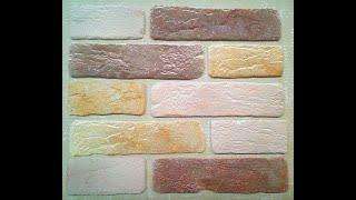 Старый кирпич Микс2 гипсовый интерьерный декоративный камень