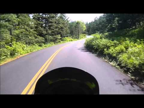 KLR 650 Ride through Myles Standish State Forrest.
