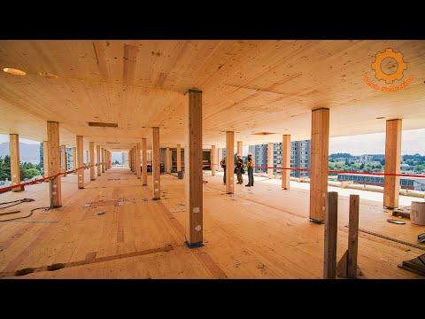 Как строят деревянные небоскребы