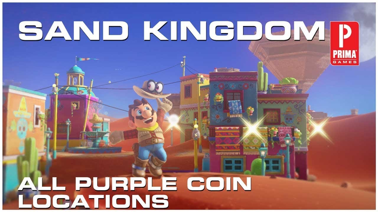 Super Mario Odyssey Sand Kingdom All Purple Coins