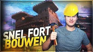 OP DE SNELSTE MANIER EEN FORT BOUWEN EN WINNEN!! - Fortnite Battle Royale (Nederlands)