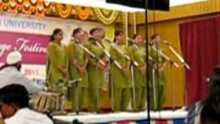 indian group song inter zonal festival 2011 at ldh