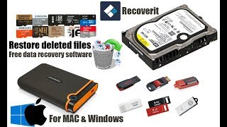 How to restore deleted files with Recoverit free data recovery software