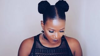 How To | Space Buns With Marley Hair