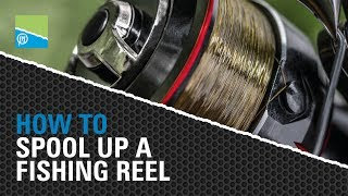 Tackle Room Tips - How To Spool Up A Fishing Reel