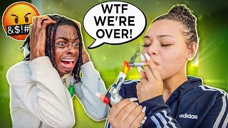 SMOKING CIGARETTE PRANK ON BOYFRIEND!! *HE LEAVES ME*