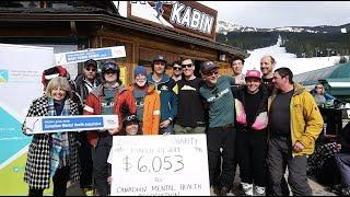 Lake Louise Ski Resort Iron Legs for Charity Event 2019