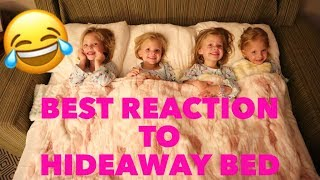 Quadruples Reaction To Seeing A HIDEAWAY BED For The FIRST TIME Is HILARIOUS