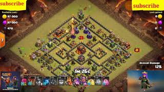 How to get 3star 10town hall.east war attack clash of clans.3star attsck coc.minor attack.with spell