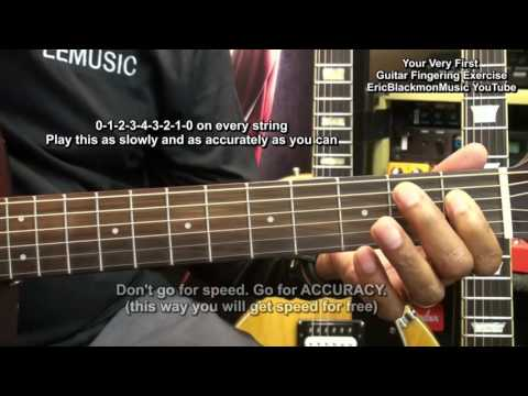Beginners: Very First Guitar Fingering Exercise Lesson EricBlackmonGuitar