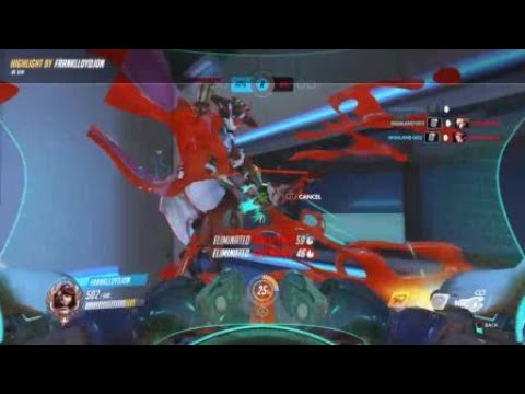 Overwatch: DVA - how not to dva bomb- Still got a triple kill