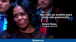 """Obama a Michelle: """"Has sido un modelo para toda una generación"""""""