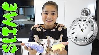 60 Second Slime Challenge with 4 Slimes! | Grace's Room