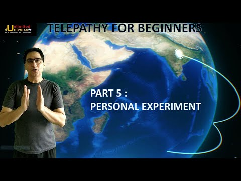 Telepathy | Telepathy For Beginners - Part 5 (Personal Experiment) | No False Claims
