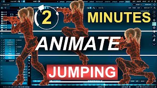 Blender 2.83 : Jumping Animations Tutorial (In 2 Minutes!!!)