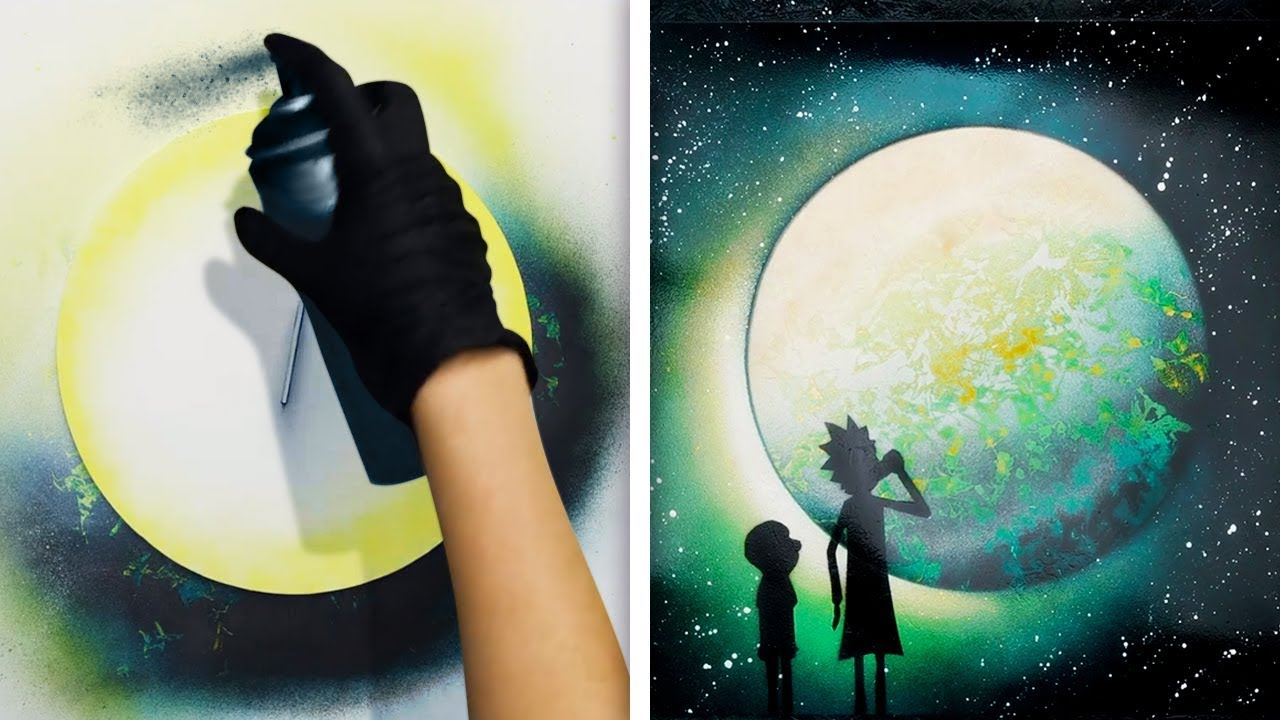 15 BRILLIANT ART IDEAS WITH SPRAY PAINT