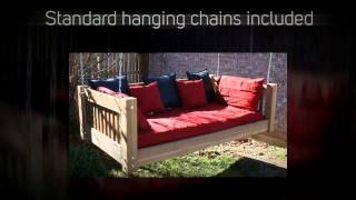 Tmp Outdoor Furniture Traditional Red Cedar Daybed Swing