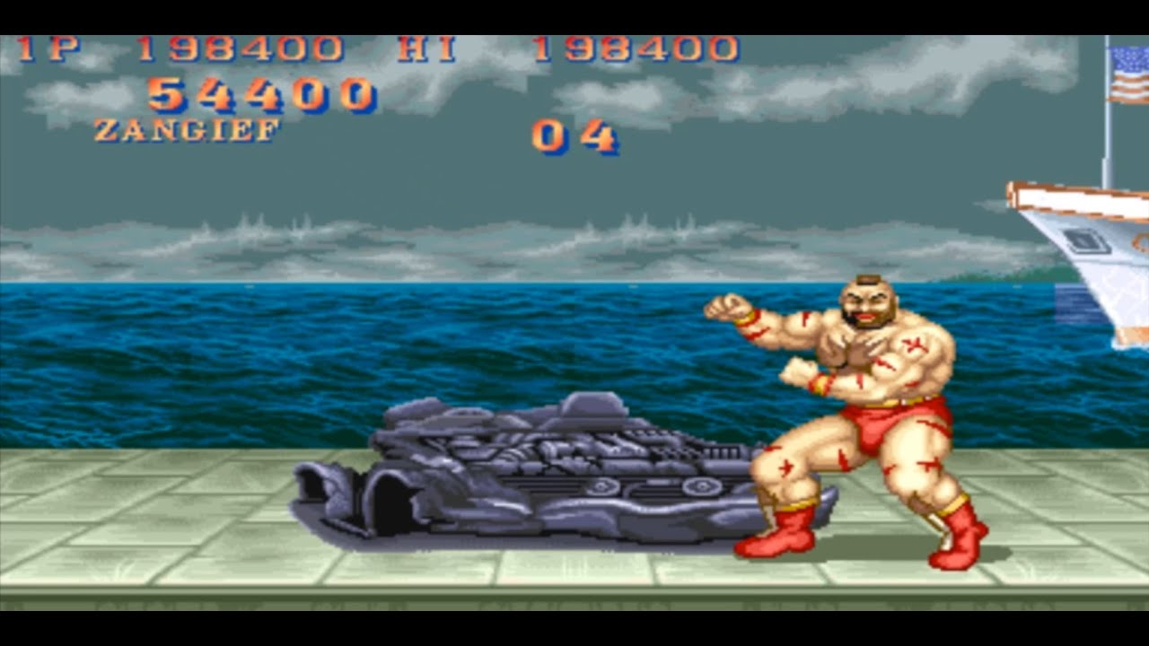 Street Fighter 2 Champion Edition Zangief Screw Pile Driver