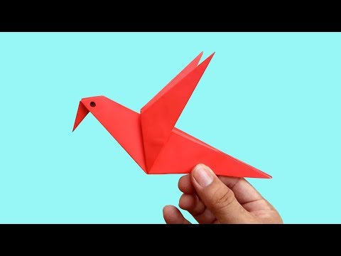 How to make an Origami Paper Bird | Paper Folding Craft Tutorials