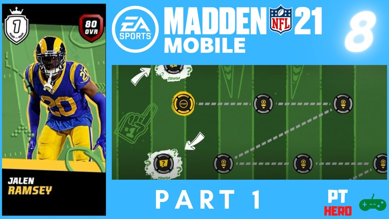 Masters Series Jalen Ramsey Part 1 Pthero Plays Madden Nfl 21 Mobile Ep08 Youtube