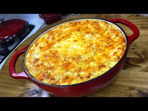 The Ultimate Five-Cheese Macaroni and Cheese | Lodge Enameled Cast Iron Dutch Oven