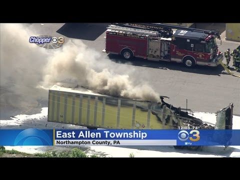 Tractor Trailers Catch Fire In Northampton County