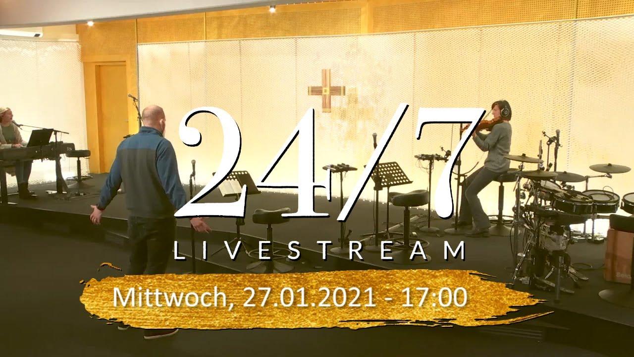 24/7 Livestream vom Gebetshaus Augsburg - Mittwoch 27.1