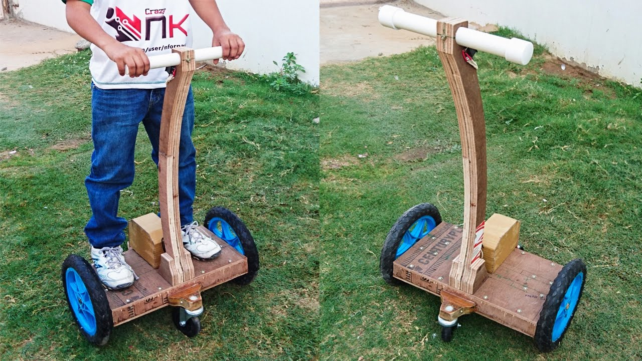How to Make a Hoverboard with Handle at Home - Segway