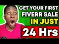 How To Get Your FIRST Order On Fiverr In 24 Hours! (FULL Fiverr Tutorial For Beginners!)