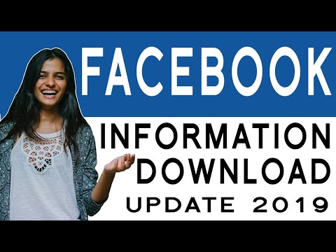 How To Download Facebook Information  2019 - Posts Messages Images Comments & More