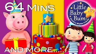 Video Happy Birthday Song | Plus Lots More Nursery Rhymes | 64 Minutes Compilation from LittleBabyBum! download MP3, 3GP, MP4, WEBM, AVI, FLV Agustus 2017