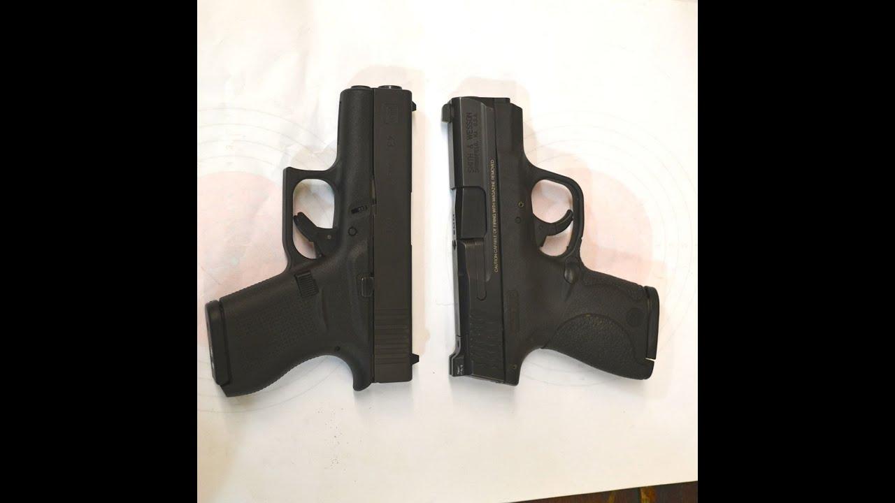 M And P Shield Vs Glock 26 Glock 43 vs the M&...