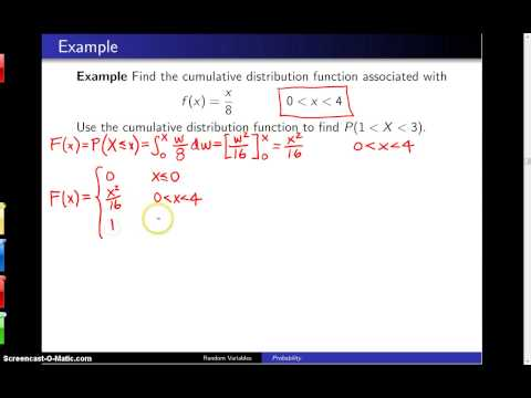 Cumulative distribution functions -- Example 4