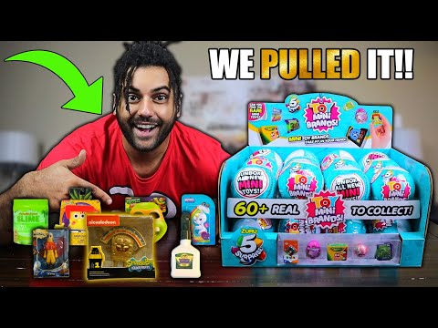 opening-a-full-case-of-zuru-mystery-mini-toy-brands!!-we-finally-pulled-the-rare-gold-spongebob!!