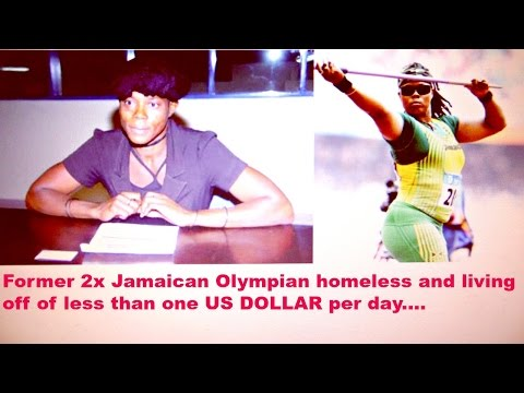2x Olympain homeless and living on less than 1 US dollar per day