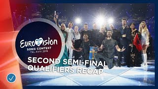 RECAP: All the qualifiers of the second Semi-Final - Eurovision 2019