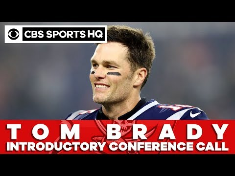 Tom Brady being introduced by the Tampa Bay Buccaneers via conference call   CBS Sports HQ