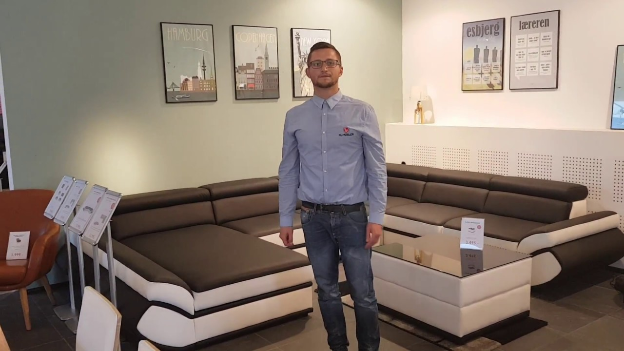 xl møbler Napoli hjørnesofa med chaiselong | XL Møbler Odense   YouTube xl møbler