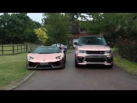 Chrome Rose Gold Lambo and SVR Cruise in the city!